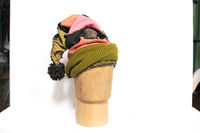 Elf hat, upcycled fabric, whimsical headwear, unique hat $98.00