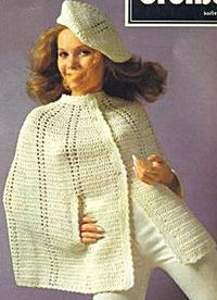 Beret and Cape Crochet Pattern free