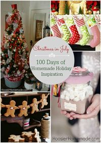 Christmas already? I know, I know, don't hate me. But Christmas will be here before we know it. Last year, we shared 100 Days of Homemade Holiday Inspiration an