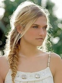 The smaller the strands you use in your fishtail braid, the more detailed your braid will be!