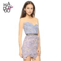 Sexy Sweet Split Front Hollow Out Mesh Summer Lace Dress - Bonny YZOZO Boutique Store