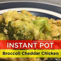 Instant Pot Broccoli Cheddar Chicken | Pressure Luck Cooking