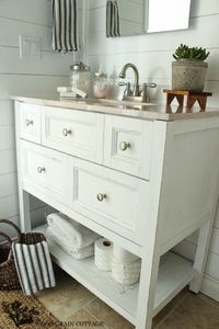 See how Shayna of The Woodgrain Cottage transformed her bathroom vanity with Chalky Finish paint from DecoArt.