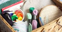 Jackie from Happy Hooligans keeps the kids busy crafting with yarn, buttons, mesh and more!