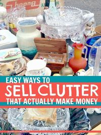We share our top tips for making money from decluttering, the key is to be smart and sell different things in different ways, read how...