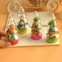 Pack of 10 Christmas Tree Bottle and Xmas Mini Erasers. £6.59