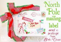 North Pole free mailing label! Leave a package to your kids from Santa Clause on the doorstep - it looks like Santa sent them an early gift. Include in the box - hot cocoa, pajama's and a Christmas book. Such a sweet surprise for a child to anticipate...