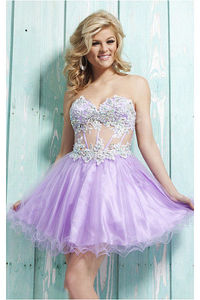 Captivating A-line Short Natural Sweetheart Sleeveless Homecoming Dresses