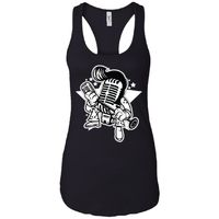 Microphone King - Music Art - Women's Racerback Tank Top $19.97