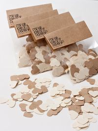 200 Heart confetti on Cream & Kraft paper - Great for wedding/ table decorations on Etsy, $2.44