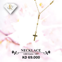 This Cross Necklace is a perfect way to let your true faith shine. �–� Product type: Gold Necklace  �–� Price: 69KD �–� Weight: 3.800 Grams �–� Free Delivery �–� Karat: 18 Karat �œ…100% Guaranteed Authent...