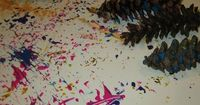 Painting with Pine Cones = perfect for using up the 1,000000 pinecones in my yard, and for my two year old