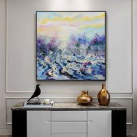 Modern art abstract Paintings on canvas Original texture agate acrylic palette knife landscape painting framed wall art cuadros abstractos $140.00