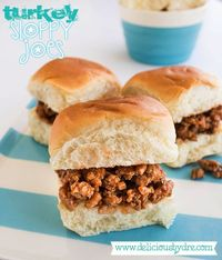 turkey sloppy joes...(buns optional!!) ground turkey mixed with 2 ingredients you probably already have in your fridge!! quick, easy, healthy food for kids and adults!
