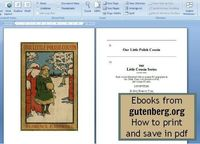 How to save the ebooks from gutenberg.org in pdf format and print them from a Word or Google Drive document. #ebooks #publicdomain