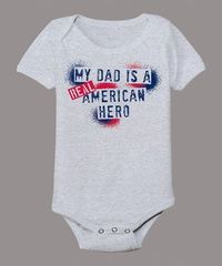 Aw, sniff sniff. Perfect for the military dads out there. A very happy Father's Day to them!