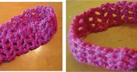 5 daughters: Crocheted headband, hairband (toddler size)
