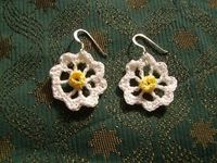 Yellow, Pink and Sparkly: Daisy Daisy earrings