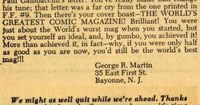 George R.R. Martin's eloquent prose can make even the most back-handed of compliments feel like high praise. We have proof in a letter that 15-year-old M...