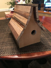 Gnome Lodge Birdhouse | Rustic Birdhouse | Blue Birdhouse | Housewarming $39.95