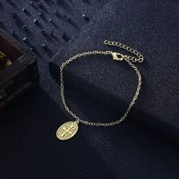 Cross Coin Bracelet in 18K Gold Plated $60.00 Free Shipping