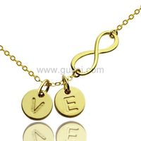 Gullei.com Initials Pendant Infinity Necklace Gift for Girlfriend
