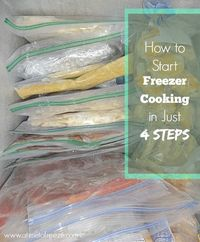 A simple, uncomplicated freezer-cooking how to for newbies and pros alike