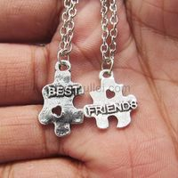 Puzzle BFF Necklaces Birthday Gift Set for 2 by Gullei.com