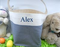Easter Basket - Blue Gingham $17.00