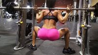 Michelle Lewin. Women's Butt Building Workout in the GYM!! Part 1. 12 Minute Video.