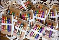 Crayon Notepads and other homemade gifts for kids