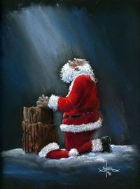 Christmas is for celebrating the birth of Christ. Santa is to show us the gift of giving. Merry CHRISTMAS to all. - Jim Stahl