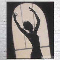 Moonlight dance Oil Painting On Canvas Hand Painted
