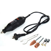 220V 130W Electric Grinder Rotary Tool 5 Variable Speed Mini Drill Set 5PCS Accessory