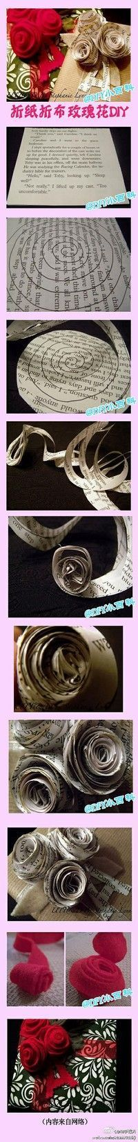 I'm seeing these made out of sheet music and then made into a wreath to hang on the mirror above my piano.
