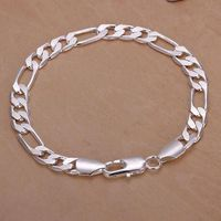 HOT!!! New 925 Sterling silver bangle Bracelets Party Gift Fashion Jewelry A-639 $2.00