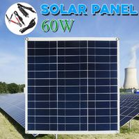 60W 18V Portable Solar Panel Board Battery Charging Charger For Car Boat RV Boat Camping