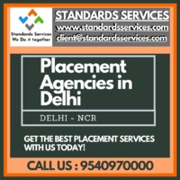 People in search of the best placement agencies in Delhi can take it easy with us, at Standards Services. We are amongst the leading placement agencies in Delhi, that provide jobs & consultation without any charges. Looking for jobs? Get in touch with...