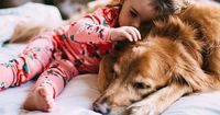 Loving animals is such a natural thing. You see it in a baby's untaught, genuine affection for their pet. **couturecheri**