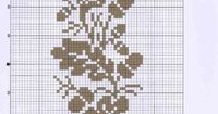 Autumn acorns free cross stitch pattern