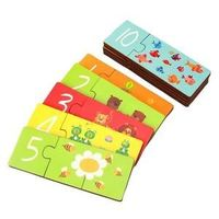 Puzzle Wooden Match It Game -to help Maths skills and number awareness