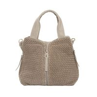 """Bag """"Attika"""" from Weil, with a knit front... an idea to copy!"""