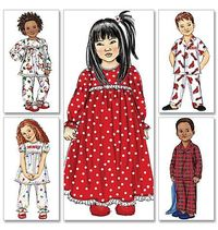 Toddlers'/Children's Nightgown, Pajama Top and Pants- this will be my first sewing project for Hannah