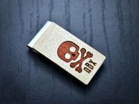 Personalized Money Clip, Skull inlaied wood Money clip, Groomsmen Money clips, Groomsmen Gift, Birthday, Anniversary Gift $33.00