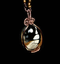 Picasso Marble Copper Wire Wrapped Bohemian Pendant and Long Statement Necklace $31.46