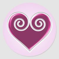 Pink Foil Heart Sticker