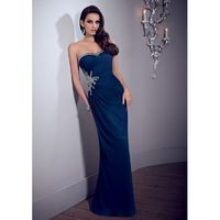 Exquisite A-line Sweetheart Crystal Detailing Ruching Sweep/Brush Train Chiffon Mother of the Bride Dresses - Dressesular.com