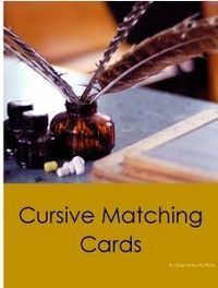 Cursive Matching Cards - Crestview Heights Academy | Language | Montessori Inspired | CurrClick