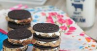 Warm Baked Chocolate Chip Cookie Stuffed Oreos...WHAT MADNESS IS THIS?!??