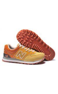 New Balance 574 Women Shoes Mesh Yellow